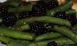Fresh Oregano and Blackberry Green Beans