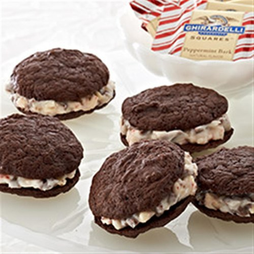 Peppermint Chocolate Sandwich Cookies