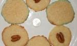 Sugared Danish Butter Cookies with Pecan Halves