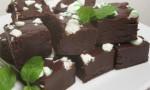 Dark Chocolate Peppermint Fudge