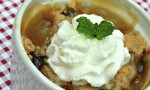 Pear and Sour Cherry Crisp