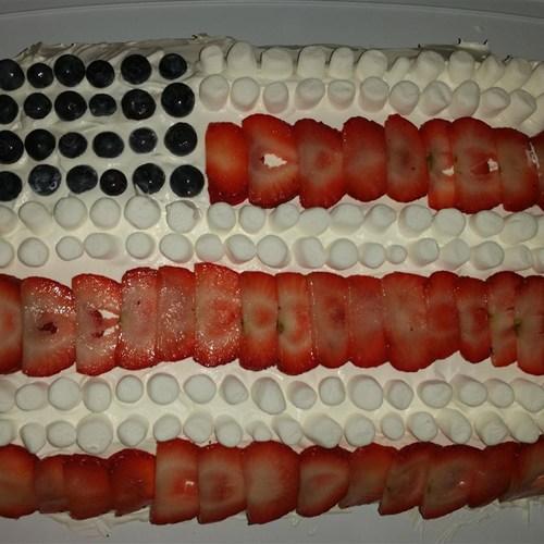 All-American Flag Cake