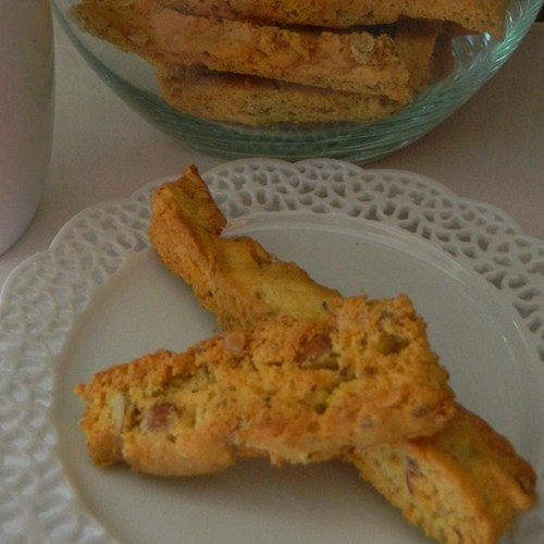 Anisette Biscotti From Cake Mix