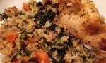 Okra, Chicken and Rice Casserole