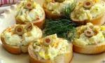 Egg and Olive Crostini