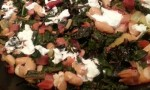 Swiss Chard with Pinto Beans and Goat Cheese
