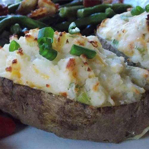 The Ultimate Twice Baked Potatoes: Healthier Ultimate Twice Baked Potatoes
