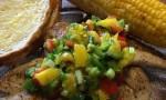 Coriander Chicken with Mango Salsa