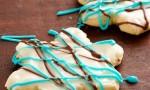 Peppermint Bark Snowflake Cookies