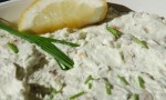 Warm Blue Cheese Dip with Garlic and Bacon