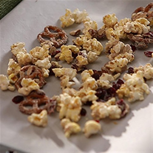 Ashley And Whitney S Popcorn And Pretzel Sweet Snack Mix