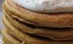 Pumpkin Pancakes with Nutmeg Whipped Cream