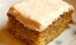 Zucchini Cake with Cream Cheese Applesauce Icing